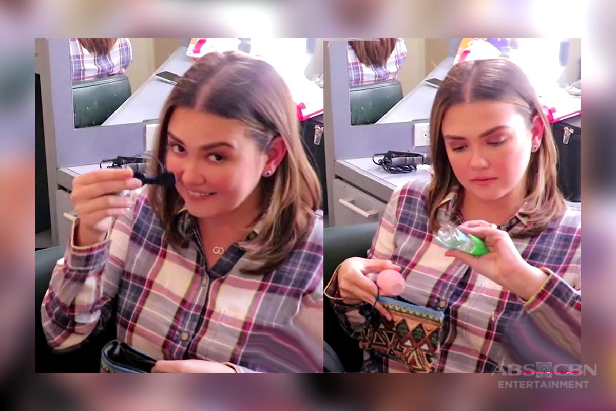 Angelica, ipinasilip ang laman ng kanyang bag